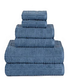 American Dawn Jackson Modern Textured 6 Piece Towel Set