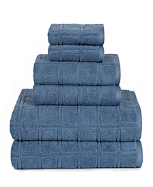 American Dawn Heirloom Manor Jackson Modern Textured 6 Piece Towel Set