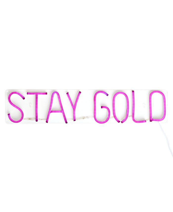 COCUS POCUS - Stay Gold LED Neon Sign