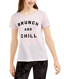 Juniors' Brunch And Chill Graphic T-Shirt