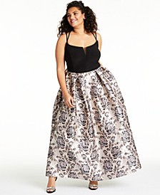 Trendy Plus Size Strappy-Back Gown