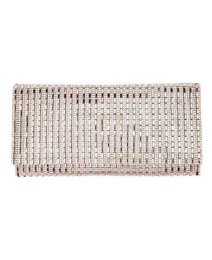 Nina - Crystal Vertical Stripe Pattern Clutch