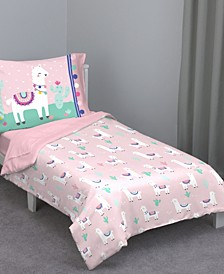 Llama 4-Piece Toddler Bedding Set