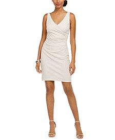 Ruched Glitter Sheath Dress