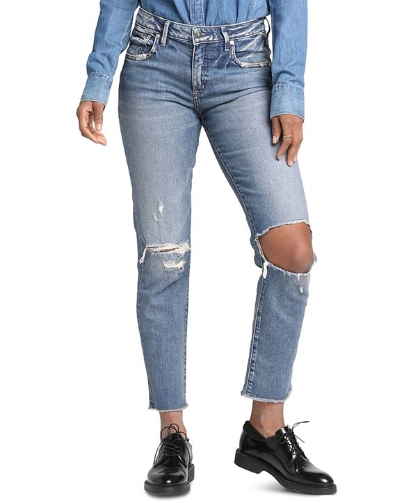 Silver Jeans Co. Lorette Skinny Girlfriend Jeans