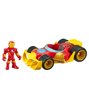 Playskool Heroes Marvel Super Hero Adventures Iron Man Speedster, 5-Inch Figure and Vehicle Set, Collectible Toys for Kids Ages 3 and Up