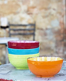 """Colors of Italy - 6"""" Cereal Bowl - Set of 4"""