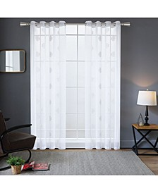 "Harper Embroidery Sheer Curtain, 54"" L x 54"" W"