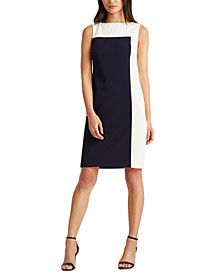 Petite Two-Tone Jersey Dress