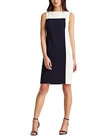 Petite Two-Tone Jersey Dress