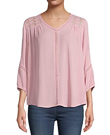 Lace-Trim Blouse