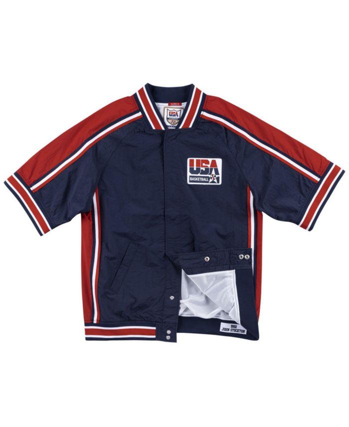 Mitchell & Ness Men's John Stockton Team USA Authentic Warm Up Jacket & Reviews - Sports Fan Shop By Lids - Men - Macy's