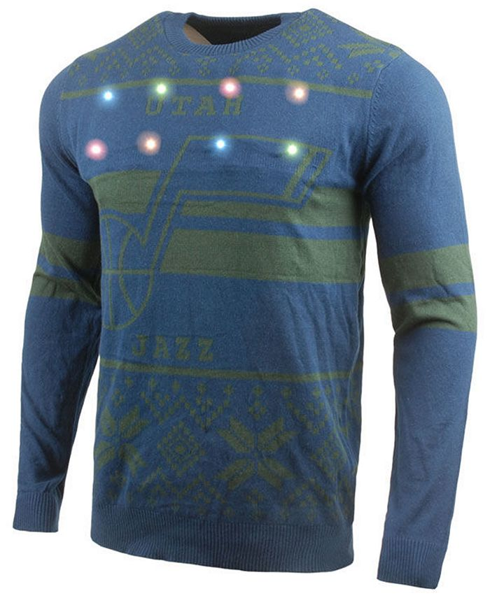 Forever Collectibles - Men's Two Stripe Big Logo Light Up Sweater