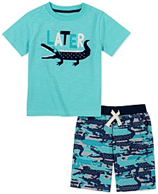 Toddler Boys 2-Pc. Later Alligator T-Shirt & French Terry Shorts Set