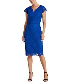 Petite Scalloped Lace Dress