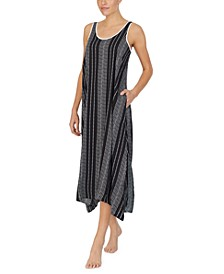 Printed Maxi Chemise Nightgown
