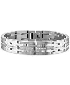 "Men's 1/2 Carat Diamond 8 3/4"" Bracelet in Stainless Steel"