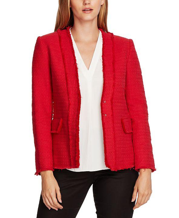 Vince Camuto Collarless Tweed Jacket