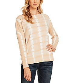 Long-Sleeve Tie-Dyed Cotton Top