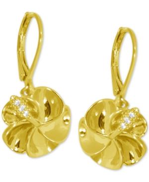Flower Drop Earrings in Gold-Plate
