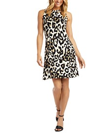 Printed A-Line Dress