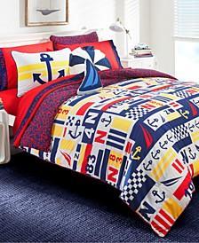 Kids Anchor Print Comforter Sets