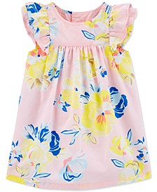 Baby Girls Floral-Print Cotton Dress