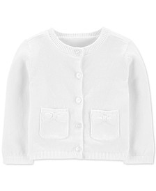 Baby Girls Button-Front Cotton Cardigan