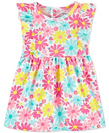Baby Girls Cotton Floral-Print Dress