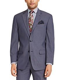 Men's Classic-Fit Blue Solid Suit Jacket
