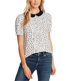 Peter-Pan Collar Printed Top