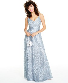 Juniors' Embroidered Gown, Created for Macy's