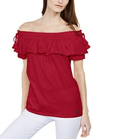Ruffled Off-The-Shoulder Top, Regular & Petite