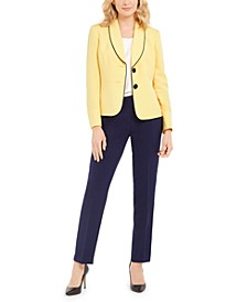 Two-Button Slim Fit Pantsuit