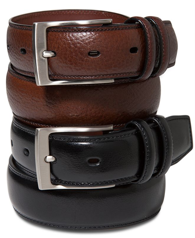 Perry Ellis Portfolio Men's Leather Belt