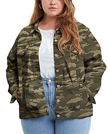 Trendy Plus Size Ex-Boyfriend Trucker Jacket