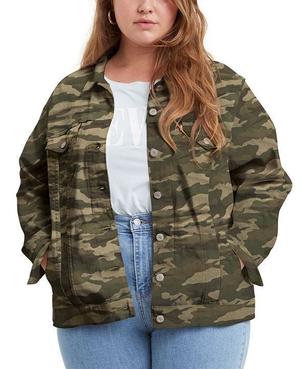 Levi's Trendy Plus Size Ex-Boyfriend Trucker Jacket