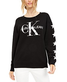 Distressed Logo French Terry Sweatshirt