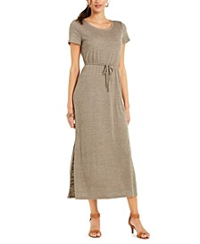 Textured Tie Waist Maxi Dress, in Regular and Petite, Created for Macy's