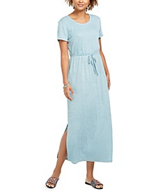 Textured Drawstring Maxi Dress, Created For Macy's