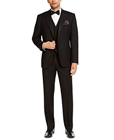 Men's Classic-Fit Stretch Black Tuxedo Separates, Created for Macy's