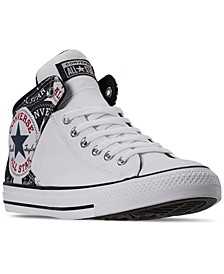 Men's Chuck Taylor All Star High Street Logo Print Mid Casual Sneakers from Finish Line