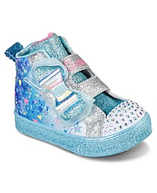 Toddler Girls Twinkle Toes: Shuffle Lite Let It Sparkle High Top Fashion Stay-Put Closure Casual Sneakers from Finish Line