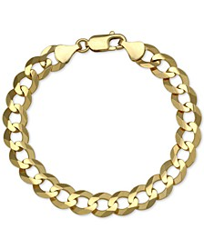 Cuban Chain Link Bracelet in 10k Gold