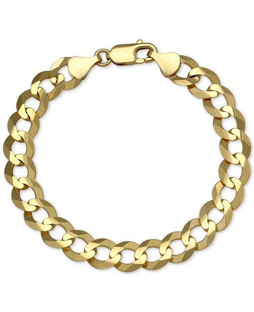 Macy's Cuban Chain Link Bracelet in 10k Gold