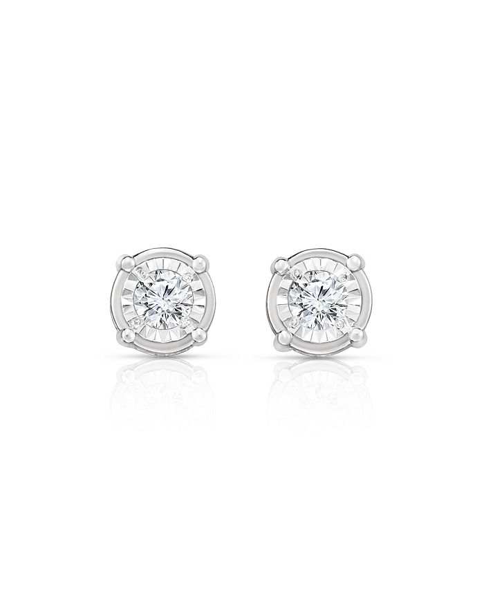 TruMiracle - TRUMIRACLE® Diamond (1 ct. t.w.) Stud Earrings in 14k White Gold
