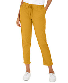 Style & Co Pull On Cuffed Utility Pants, Created for Macy's