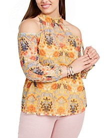 INC Plus Size Cold-Shoulder Top, Created For Macy's