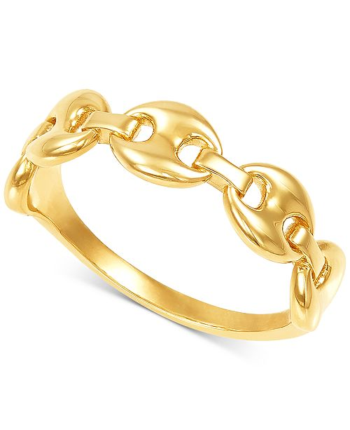 Macy's Mariner Chain Link Statement Ring in 10k Gold