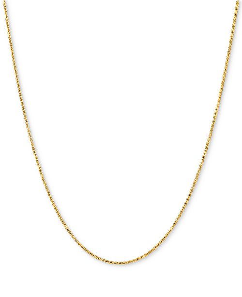 "Italian Gold Wheat Link 18"" Chain Necklace in 14k Gold"